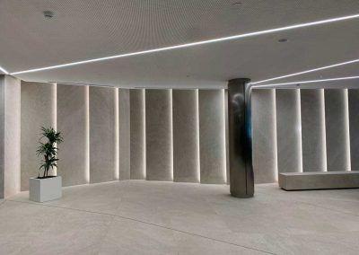 iluminación en áreas de trabajo